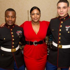 tina and marines for toys for tots