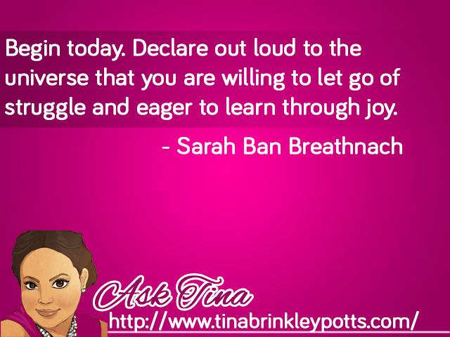 Quote Sarah Ban Breathnach