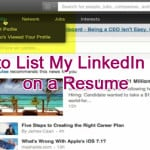 How to List My LinkedIn Profile on a Resume
