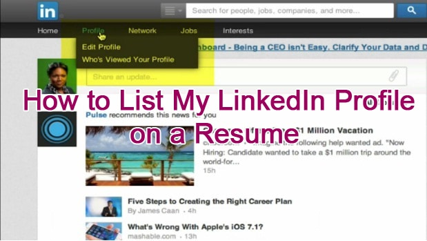 how to list my linkedin profile on a resume tina brinkley potts
