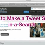 How to Make a Tweet Stick in a Search