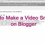 How to Make a Video Smaller on Blogger