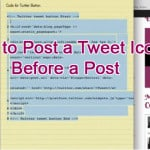 How to Post a Tweet Icon Before a Post
