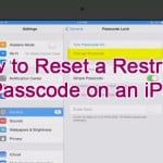 How to Reset a Restriction Passcode on an iPad